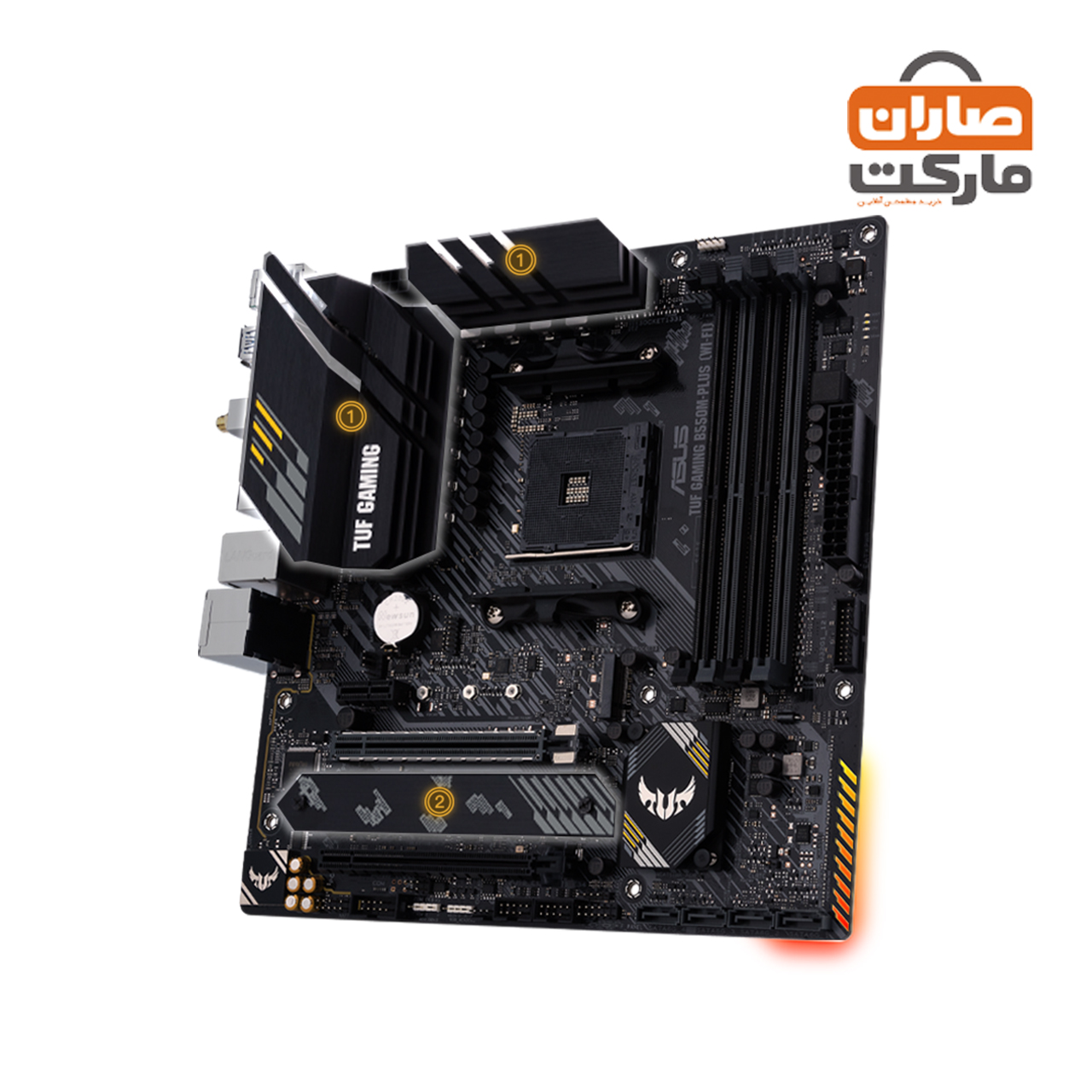 مادربرد ASUS مدل (TUF GAMING B550M-PLUS (WI-FI